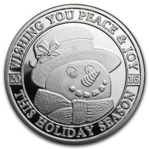 Moneda de Plata Especial Navidad